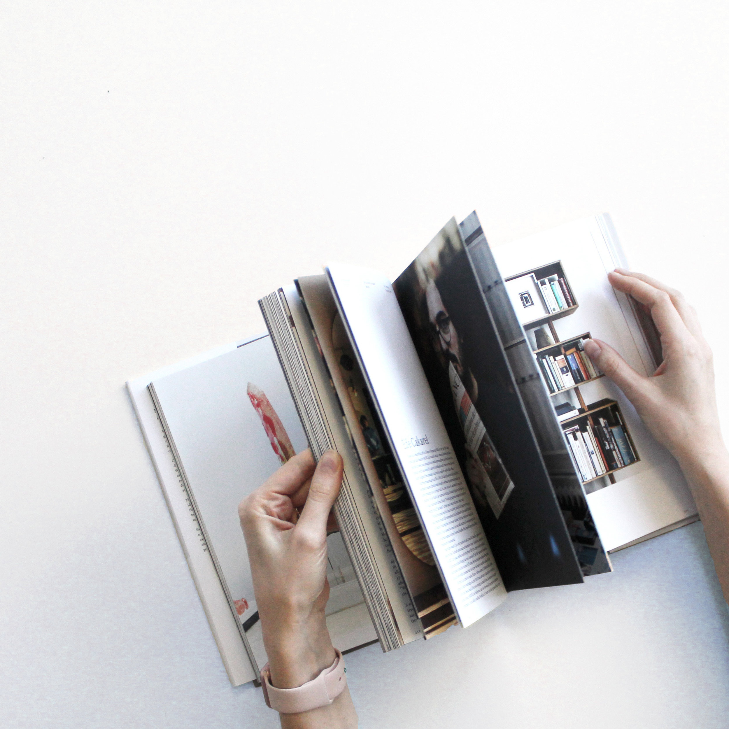 Magazine looking through