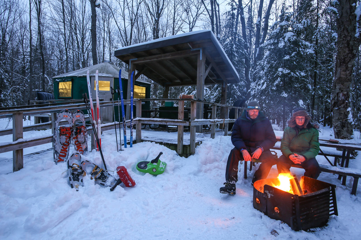 Killarney Provincial Park in Winter - A Yurt Trip Planner - Click on image to read at Northern Ontario Travel