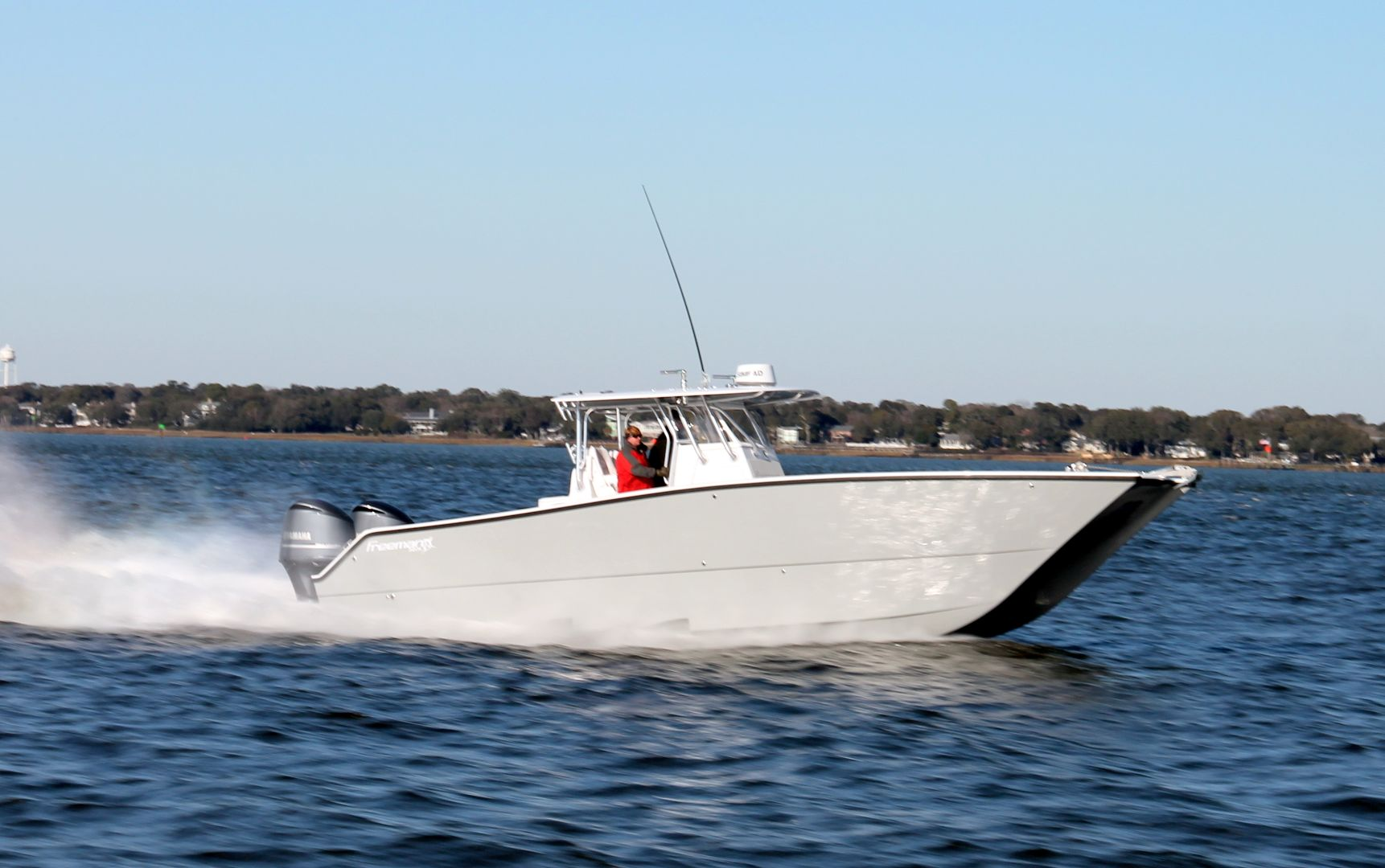 Freeman 34VH - Comfortably fish on days you would never dare fish in any other center console. This is the hull that single handily changed the center console market.