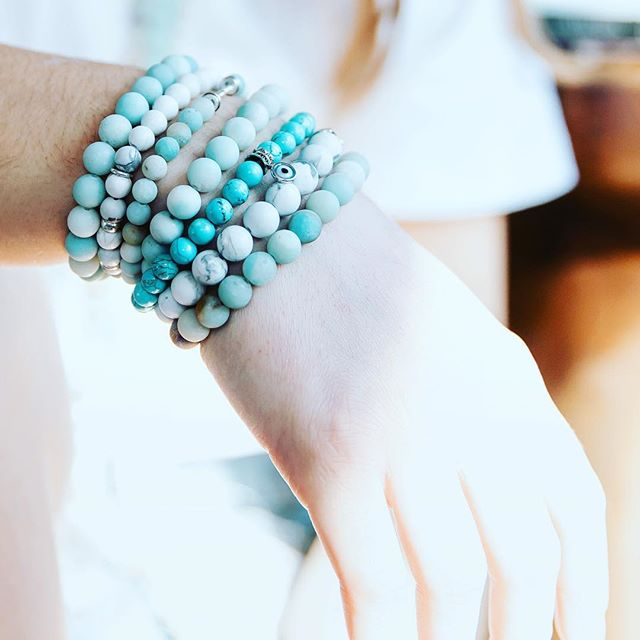 Spring is in the air!  Our Amazonite bracelet is one of our bestseller and it's always a good choice! ✨Amazonite is known as the lucky hope gemstone as it will bring luck for all your hopes and dreams. It has calming and soothing energies, especially during times of stress.✨ Shop fresh styles and don't miss out on your mala with 15% OFF until May 1st (link in bio)