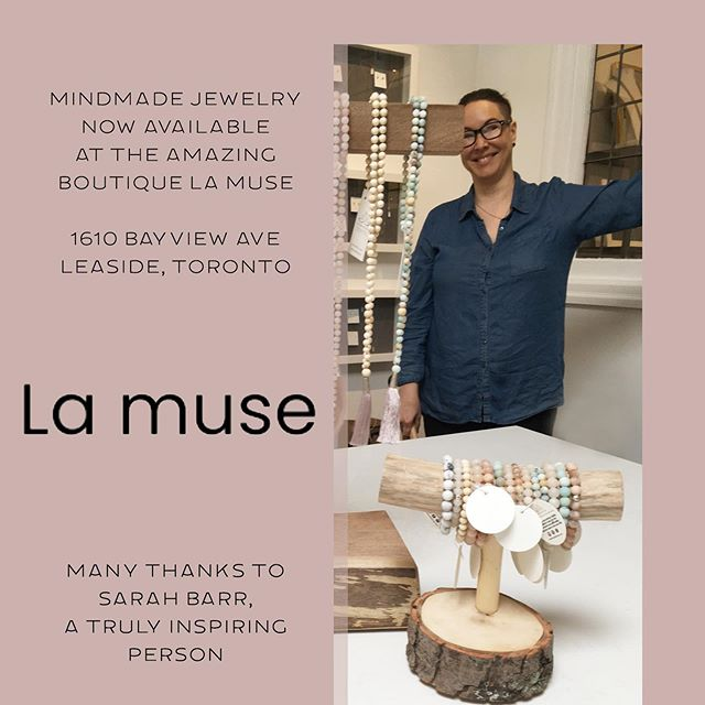 Mindmade is honored to have our mala jewelry collection at the amazing Boutique La Muse (Leaside, Toronto, 1610 Bayview Ave). The owner Sarah Barr is a truly inspiring person and offers a complimentary mediation session in a her beautiful store this Sunday, May 26th @10am  Support your #local #retailer  #boutiquelamuse #lovelivinginleaside #davisvilledwellings
