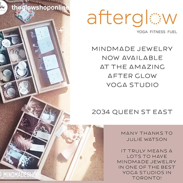 Our new summer mala jewelry collection stocked at one of the best yoga studios in Toronto - After Glow Yoga Studio! @theglowshoponline @afterglowstudio  #grateful #yogatoronto #malajewelry