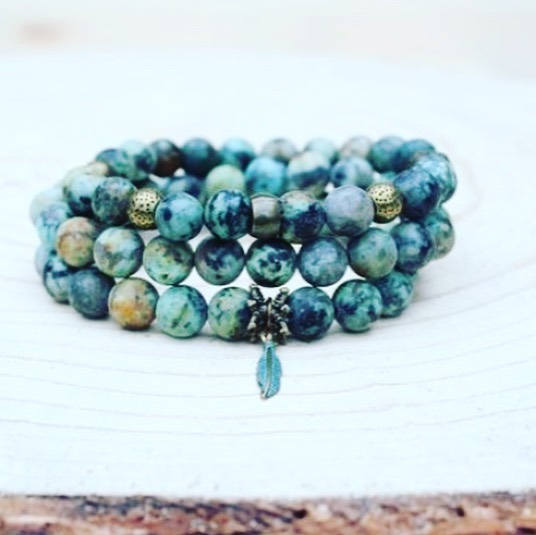 We're having fun making the best mala jewelry pieces for the Toronto Art Crawl this Saturday, at Liberty Village Park @torontoartcrawl Drop by to say hi and check out this stunning stackable African Turquoise malas and other amazing vendors as well!  #torontoartcrawl #lvac #libertyvillage #toronto #malajewelery #tacart2019 #torontoartists #yogatoronto #turquoise #gemstones #gemstonejewelry #torontolife #westtoronto