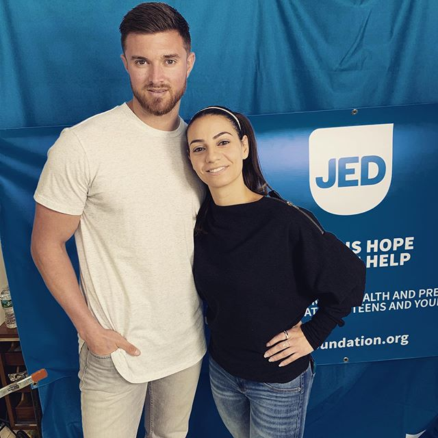 Excited to share my mental health story for the @jedfoundation. I had to privilege of traveling to New York City to chat with @lizmiele about my previous struggles with an eating disorder, why you should filter your social media accounts, and staying true to yourself. Over the next few days I will be sharing some of our conversation and you can click on the link in my bio to check it out. #JEDvoices - Link in bio to hear more from our convo.