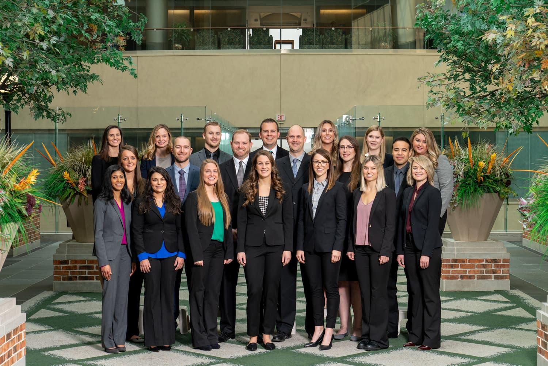 group photo of Oakland University Alumni at Royal Oak Beaumont