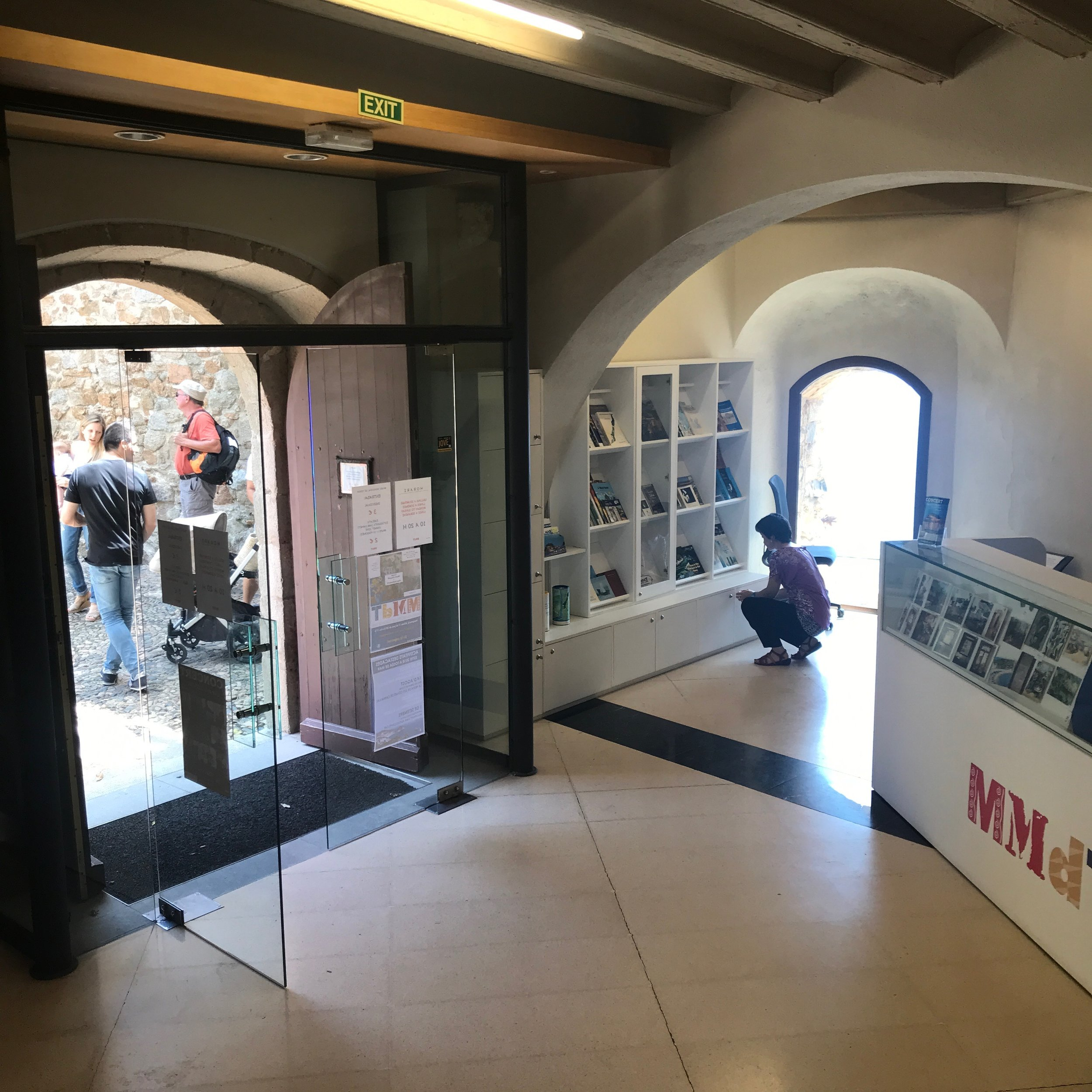 Inside the entrance of the Municipal Art Museum of Tossa de Mar.