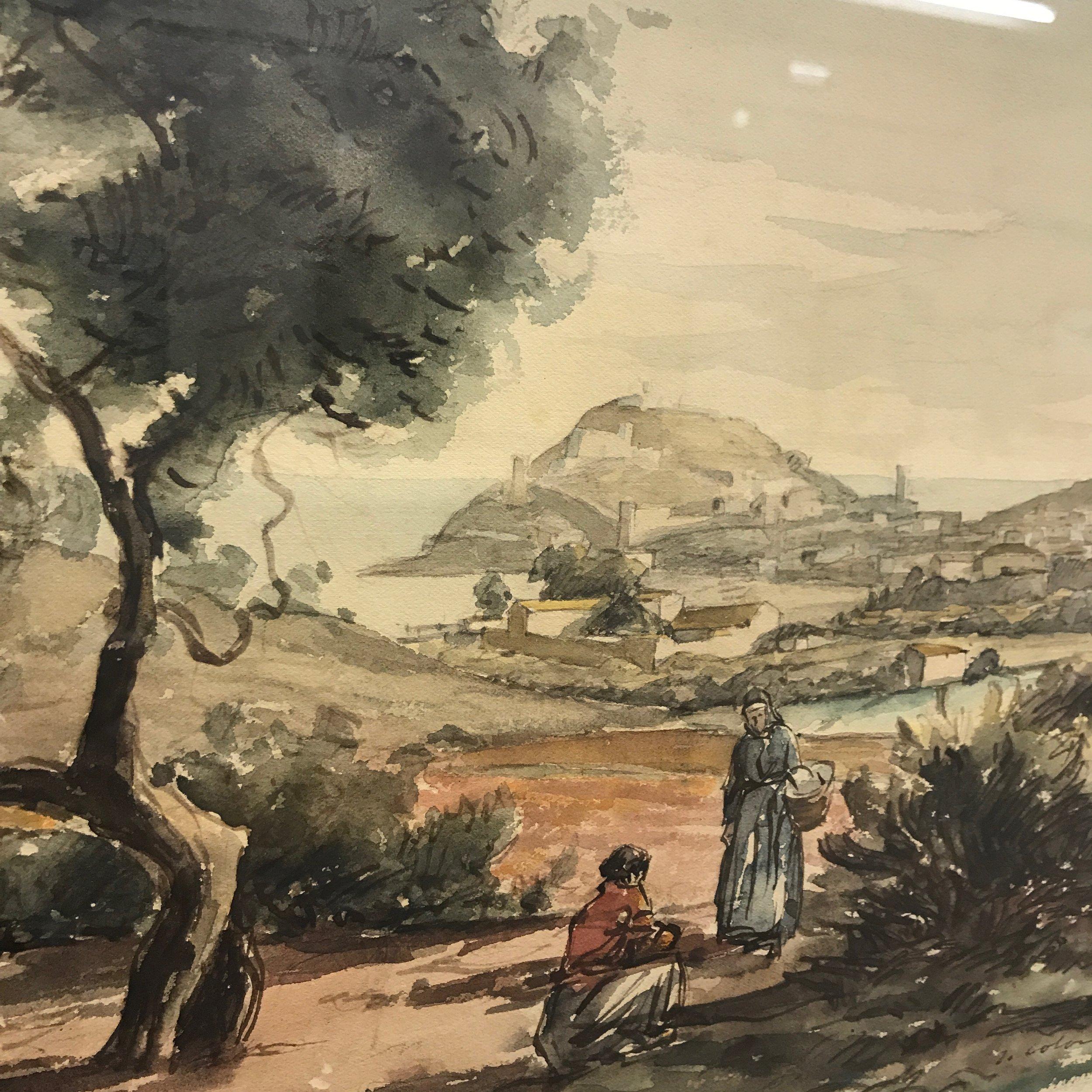 "Part of the collection of the Municipal Art Museum of Tossa de Mar, Joan Colom Agustí (1879 - 1969), ""Tossa"", 1925/1929."
