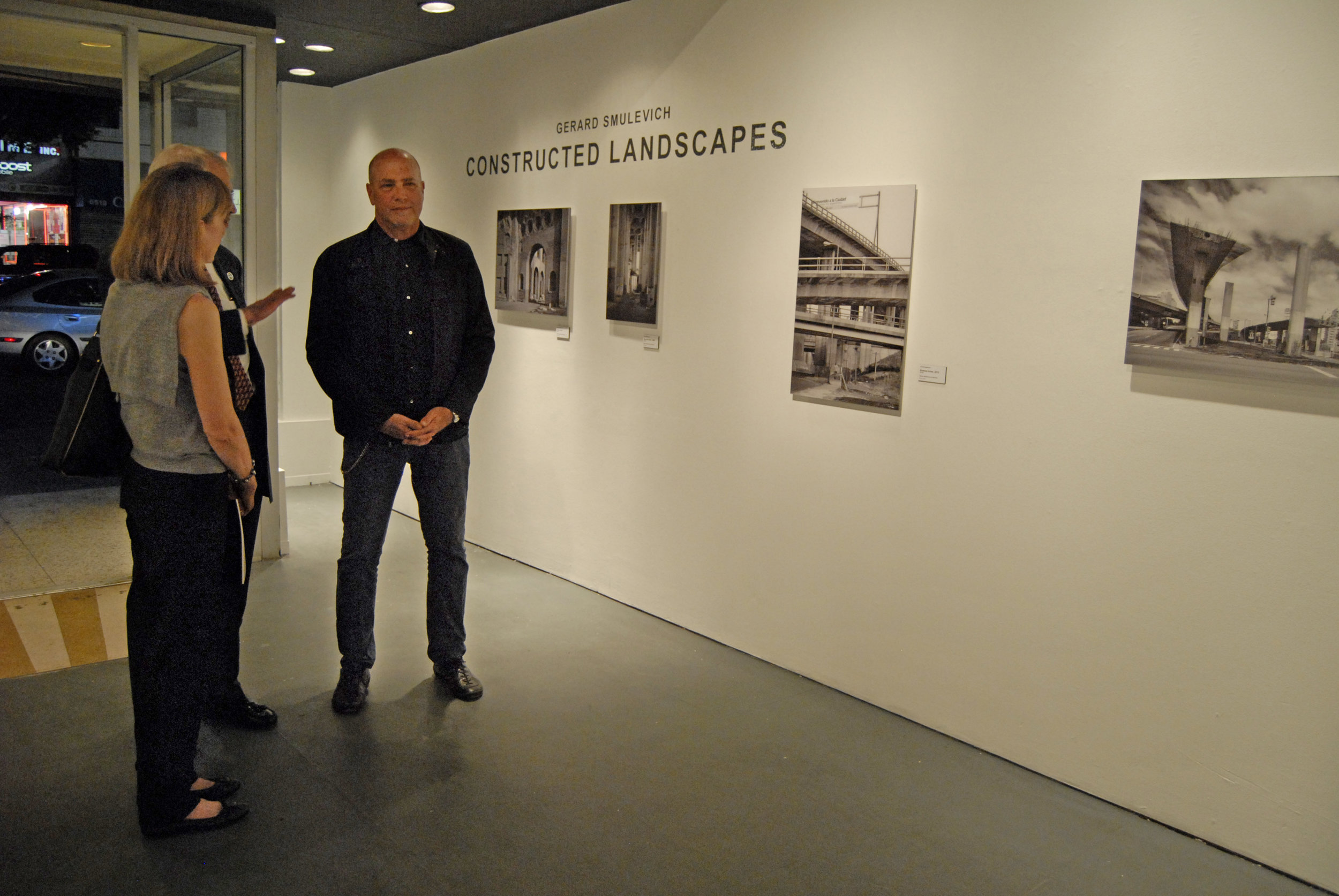 Gerard Smulevich at the opening of  Constructed Landscapes  at the WUHO Gallery in Hollywood, CA.
