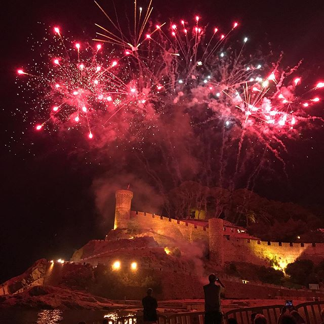 End of June festivities Sant Pere, Tossa de Mar.  One of the many events punctuating an AIRCAT summer #artistresidency