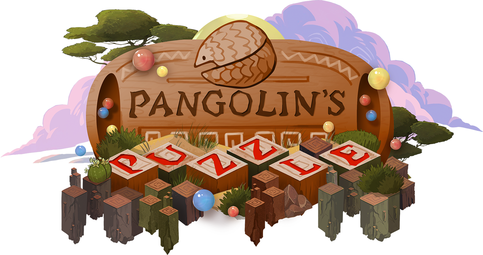 Pangolin's Puzzle Logo