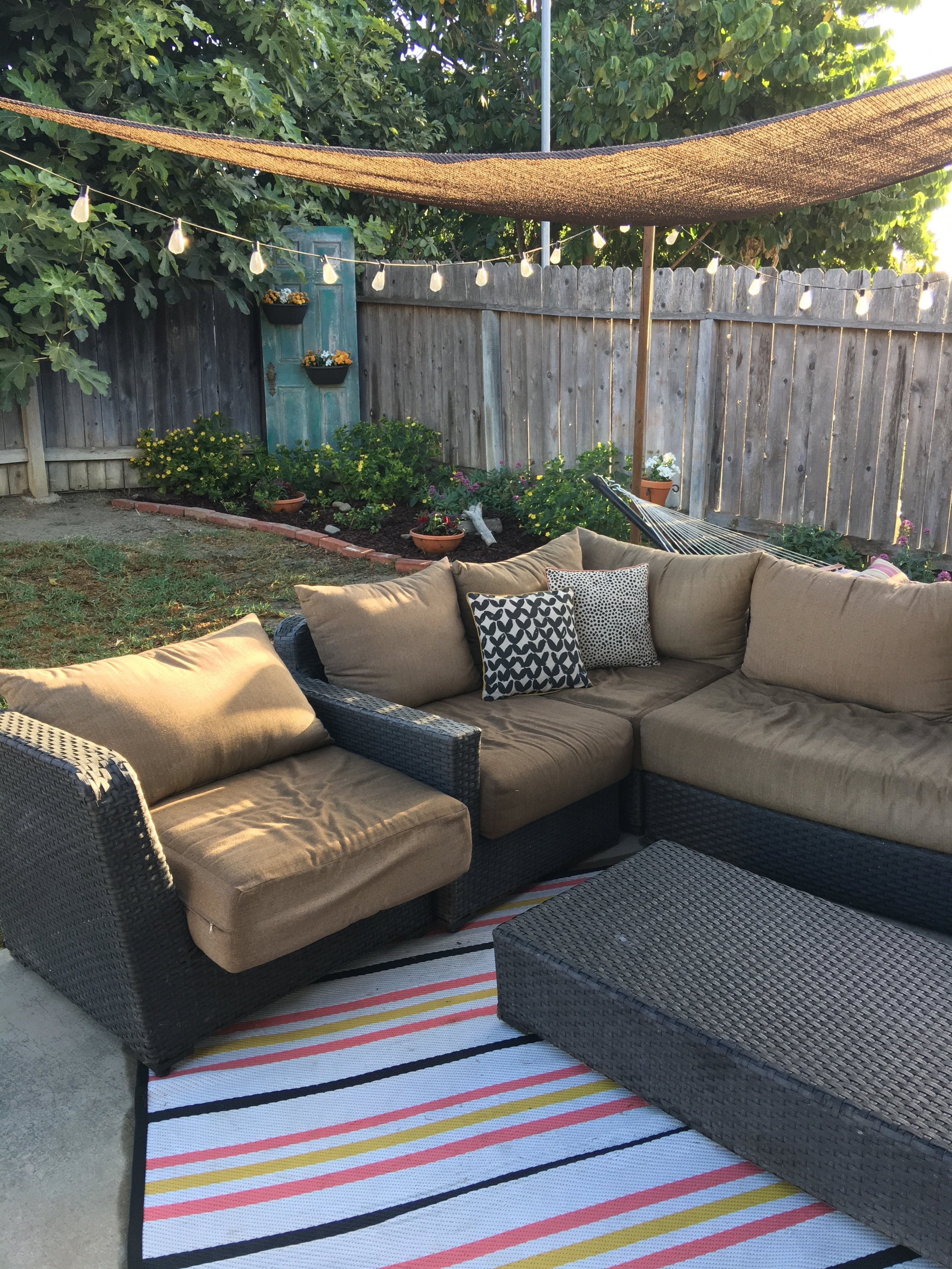 Canopy Under $40 - I'm all about a budget option. I love sun sails for shade. They offer UV protection and aren't super obtrusive. Plus they come in different colors and shapes so you are bound to find one that works for your space.