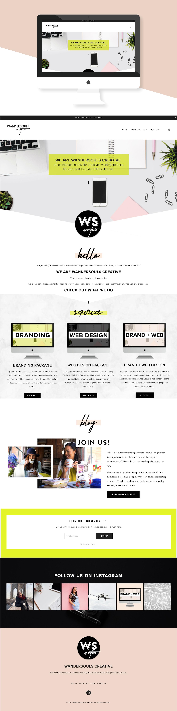 WanderSouls Creative Website Portfolio