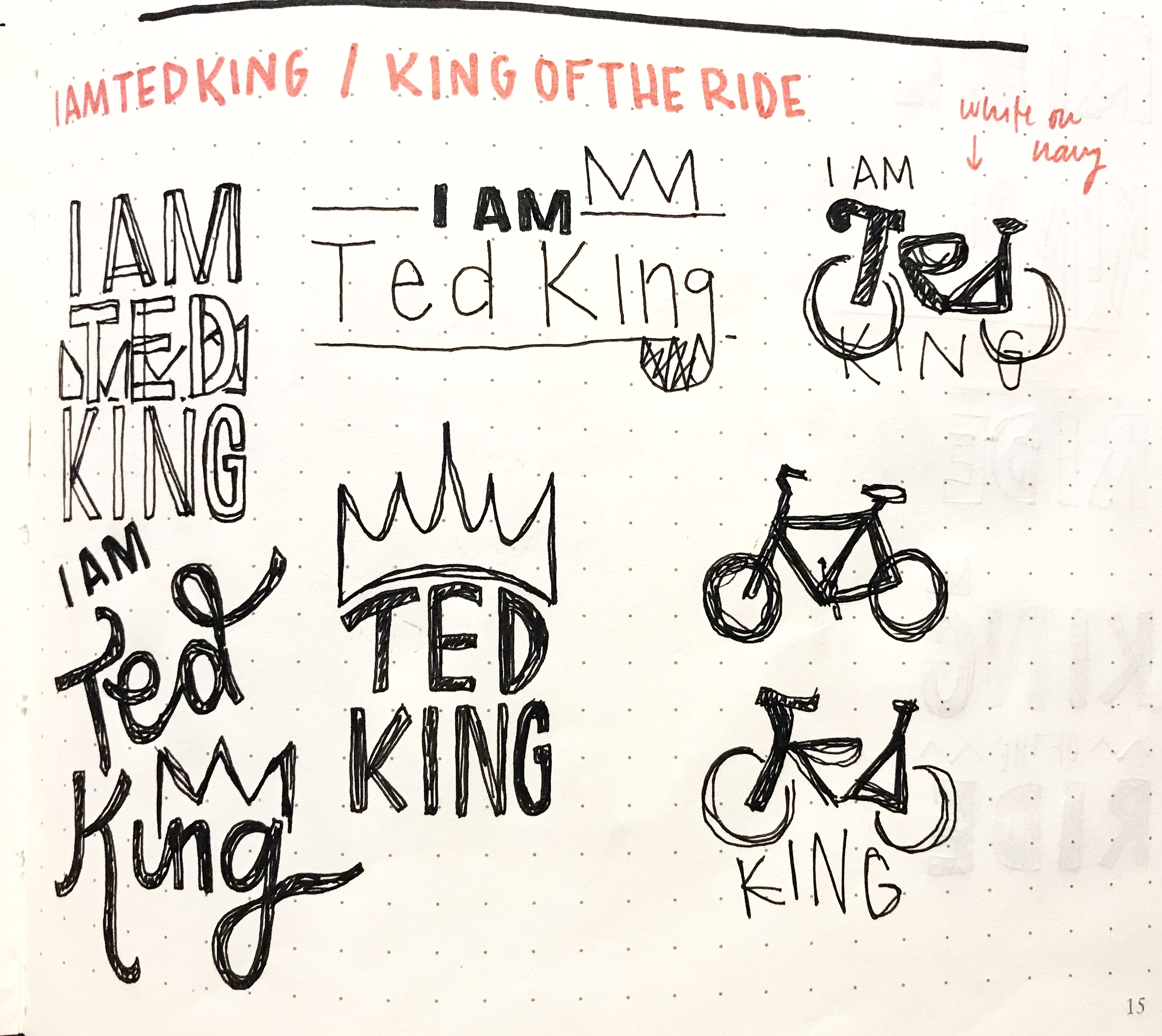 Here are some of my  preliminary sketches.  I was inspired to create logos that were dynamic and fun, while still being refined.