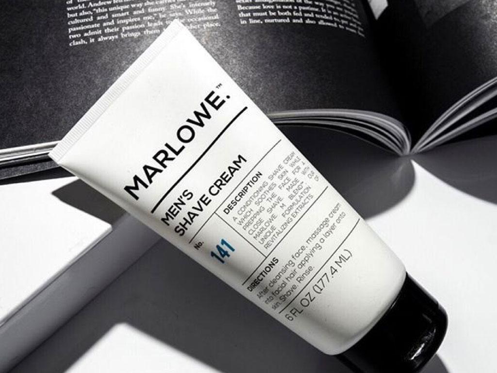 Marlowe men's shaving cream for video advertising