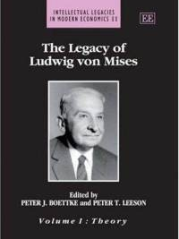 """ The Legacy of Ludwig von Mises  will prove useful to both the expert in so-called Austrian economics as well as the novice who wonders what all the fuss is about. . . Boettke and Leeson have performed a valuable service in the history of economic thought, by providing a collection that will benefit both expert and novice."" -Robert P. Murphy in the  Journal of the History of Economic Thought    "" The profoundly original Ludwig von Mises made pioneering contributions to our understanding of the modern economy in a number of areas: the problem of economic calculation under socialism, the dynamics of the mixed economy, the ordering role of market forces in banking and finance, and the monetary-shock theory of the business cycle. Editors Peter Boettke and Peter Leeson have usefully brought together a wide-ranging collection of papers – including some surprising choices – to exemplify fruitful research along Misesian lines. These volumes will help to give to Mises's insights the greater prominence among economists that they richly deserve."" -Lawrence H. White (George Mason University)"