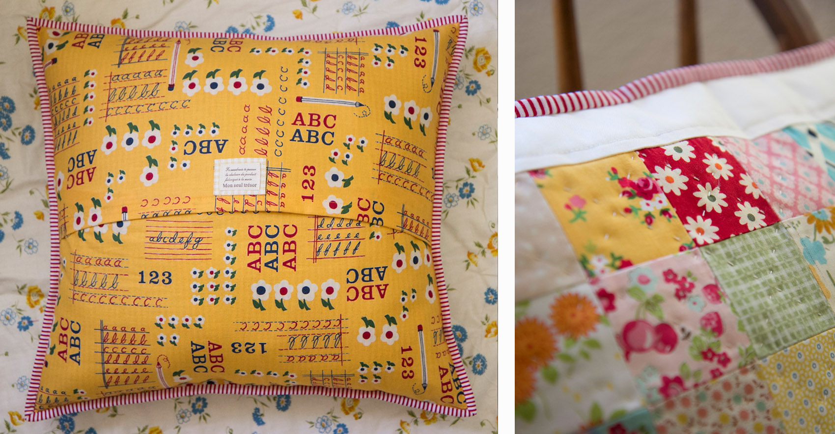 Patchwork Pillow collage 1