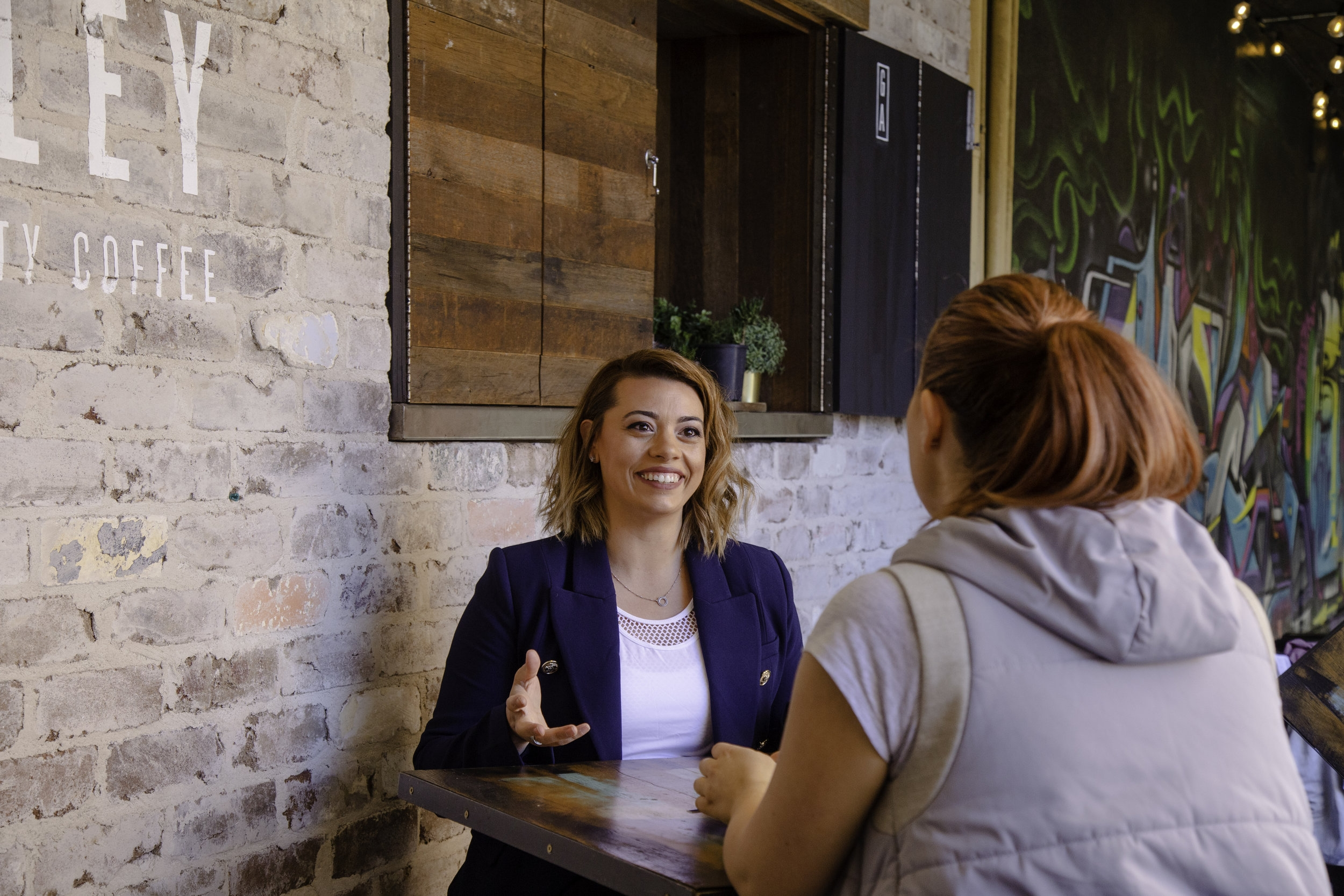 Adriana holds coaching sessions over a coffee catch up, ensuring her clients receive a personal service.