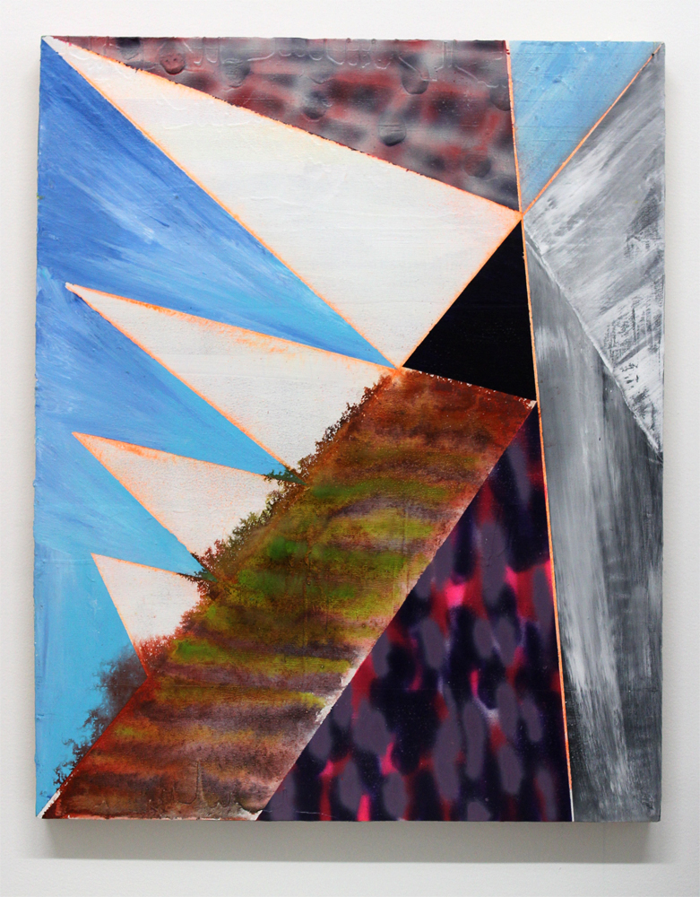 2016   Acrylic, ink, gesso and spray paint on panel   29.75 x 23.75 inches