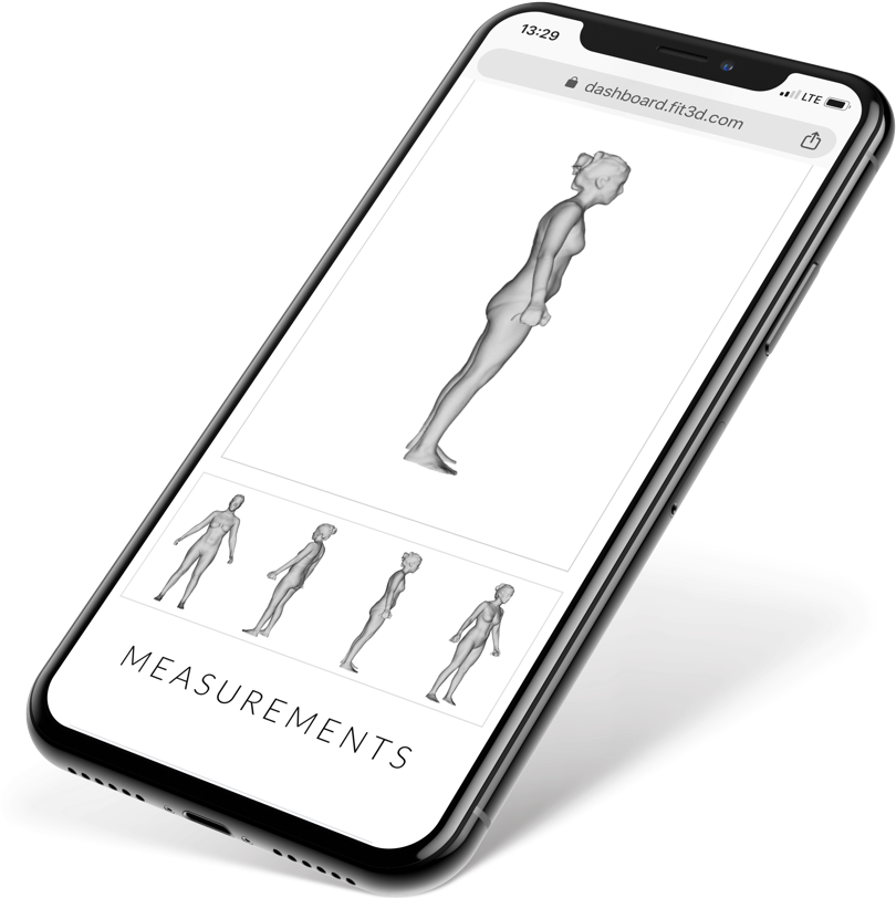Simple User Reporting - Members LOVE seeing themselves in 3D. Reports delivered to your phone within 3 minutes. Shows body composition values at each circumference measurement. Seeing how your body changes over time is a powerful motivator for members.