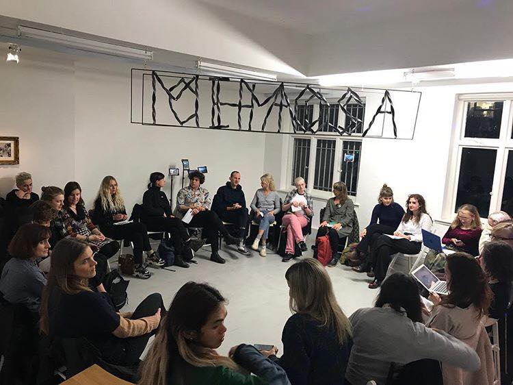Khariani Barokka & Octavia Butler, Feminist Duration Reading Group, Mimosa House, London, Dec 2018. Photo Daria Khan