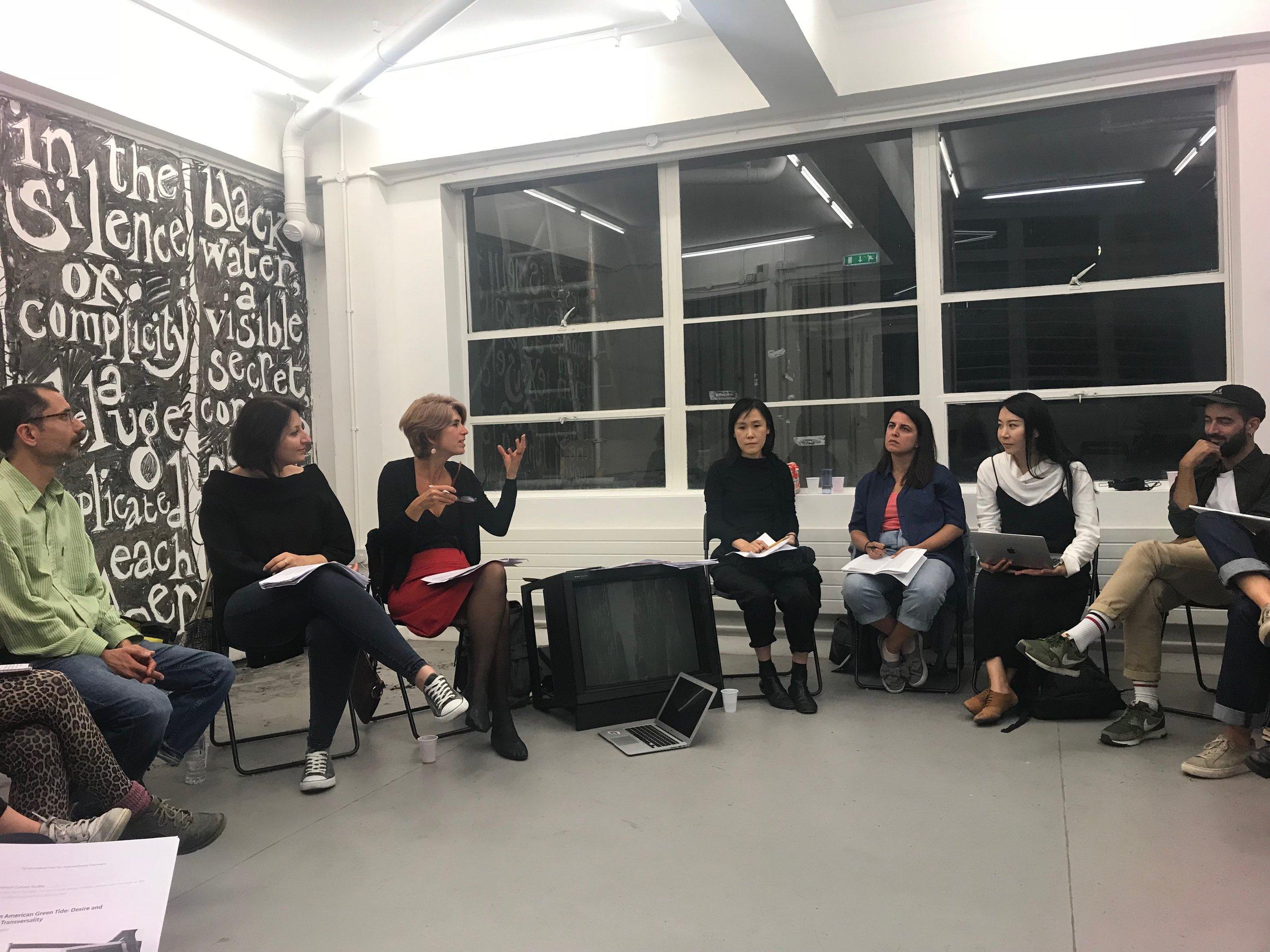 #NiUnaMenos, Feminist Duration Reading Group, Sept 4 2018_photo Helena Reckitt
