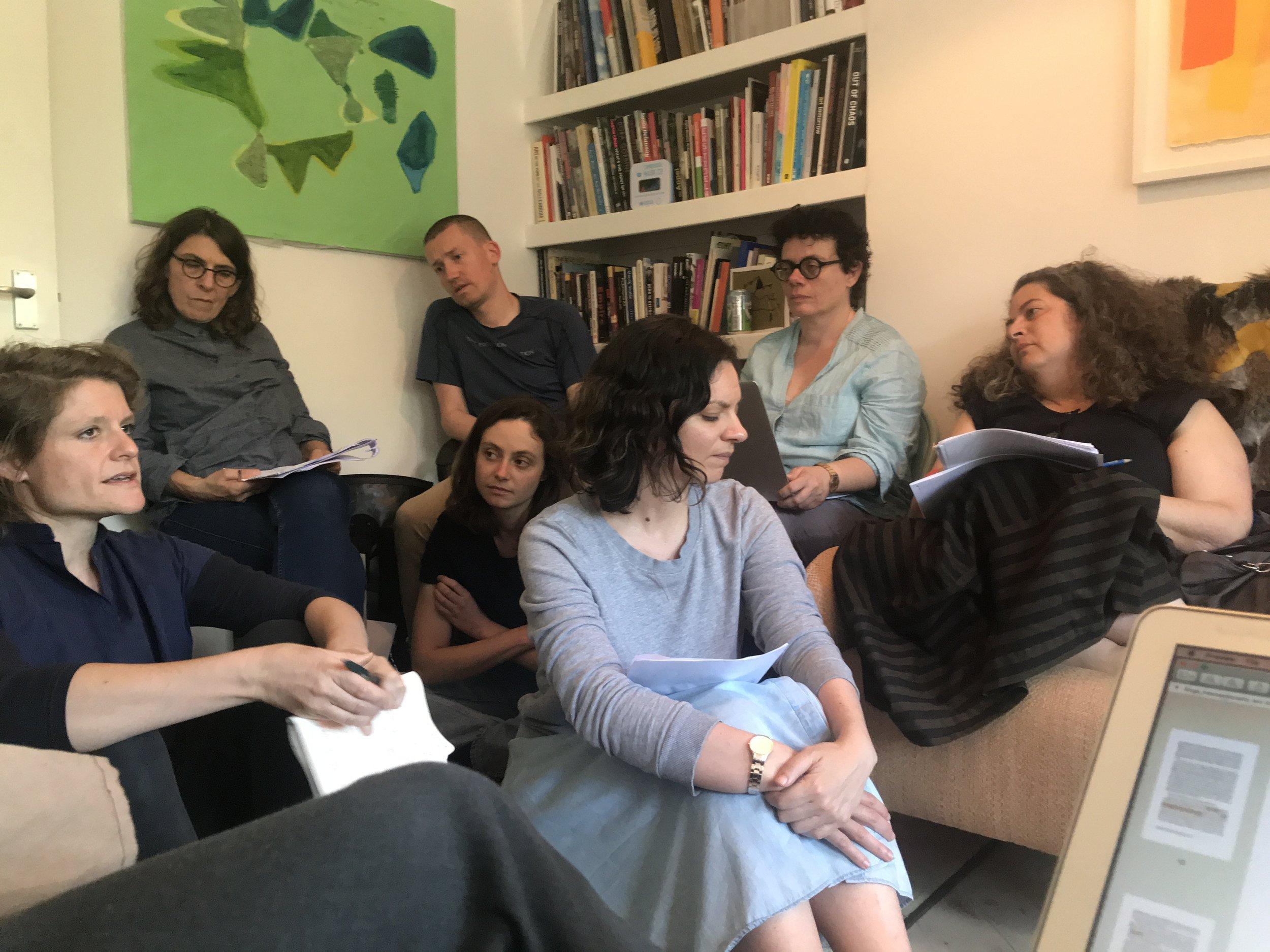 Members of the Feminist Duration Reading Group explore ecofeminisms, 2 June 2018. Photo Helena Reckitt.