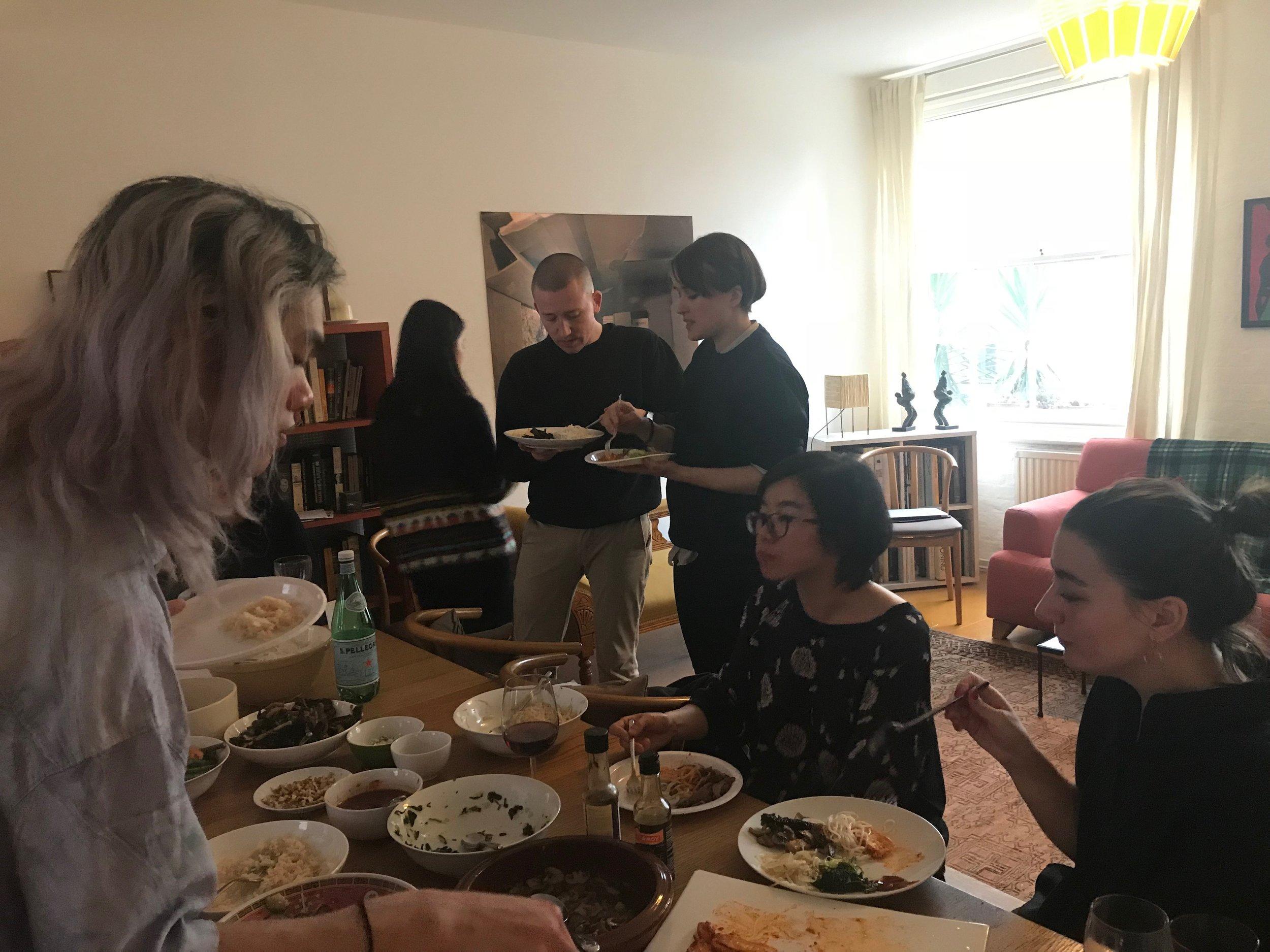 Feminist Duration Reading Group on Affidamento, 7 April 2018. Photograph Helena Reckitt.