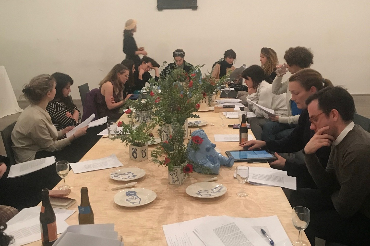 Feminist Duration Reading Group, Kurdish Feminisms Meeting 2, at the Swiss Church as part of The Table curated by Mariana Lemos. Photo: Helena Reckitt