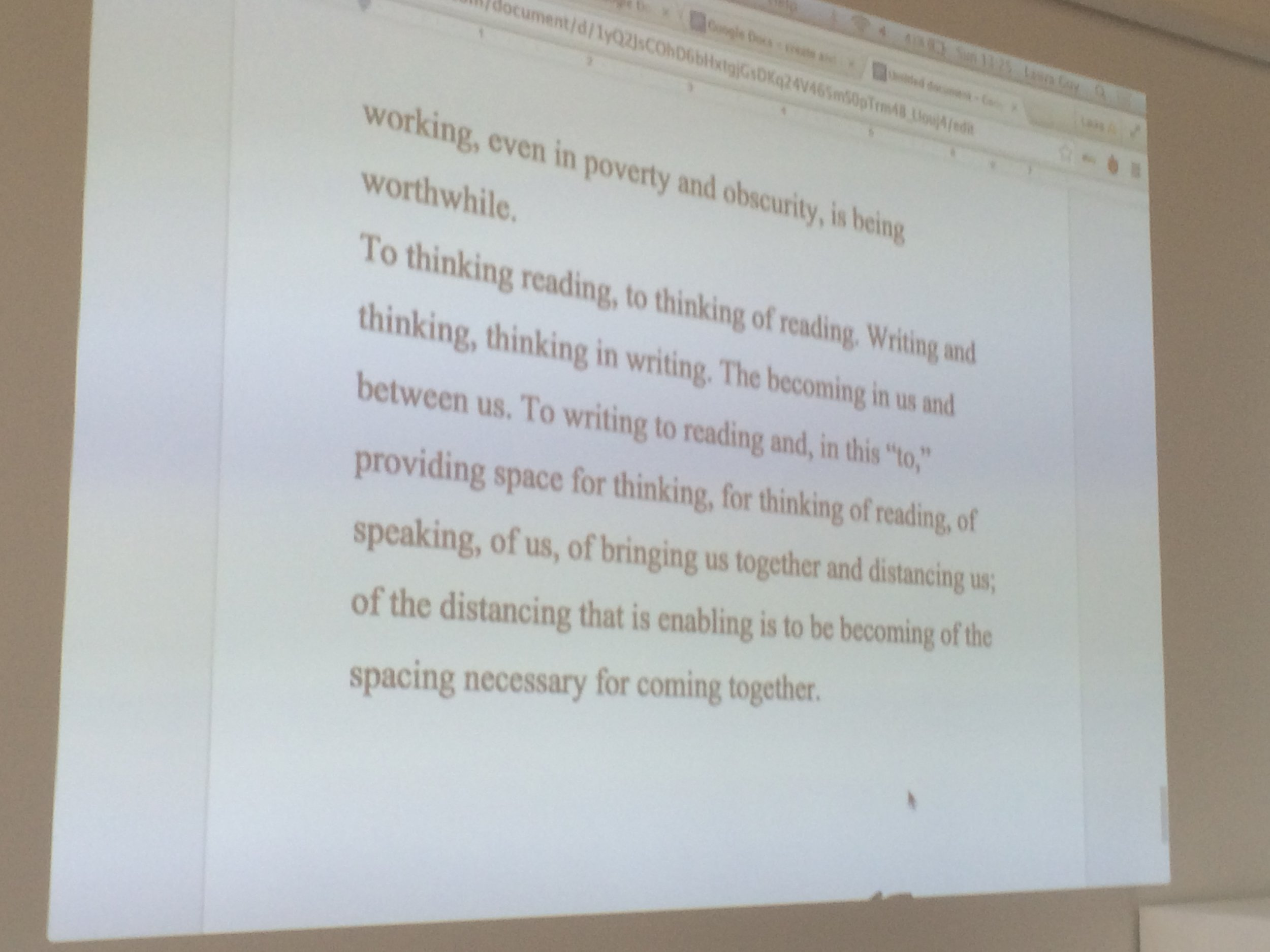 Writing exercise as part of Intimate Acts workshop led by Kajsa Dahlberg and Laura Guy, The Showroom, London, as part of Now You Can Go, December 2015. Photo: Helena Reckitt