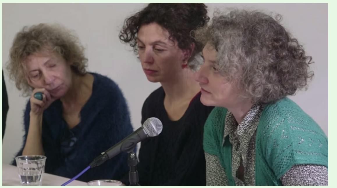 Maria Drakopoulou, Fulvia Carnevale of Claire Fontaine, and Giovanna Zapperi, Don't Believe You Have Any Rights panel discussion, The Showroom, London, as part of Now You Can Go, December 2015