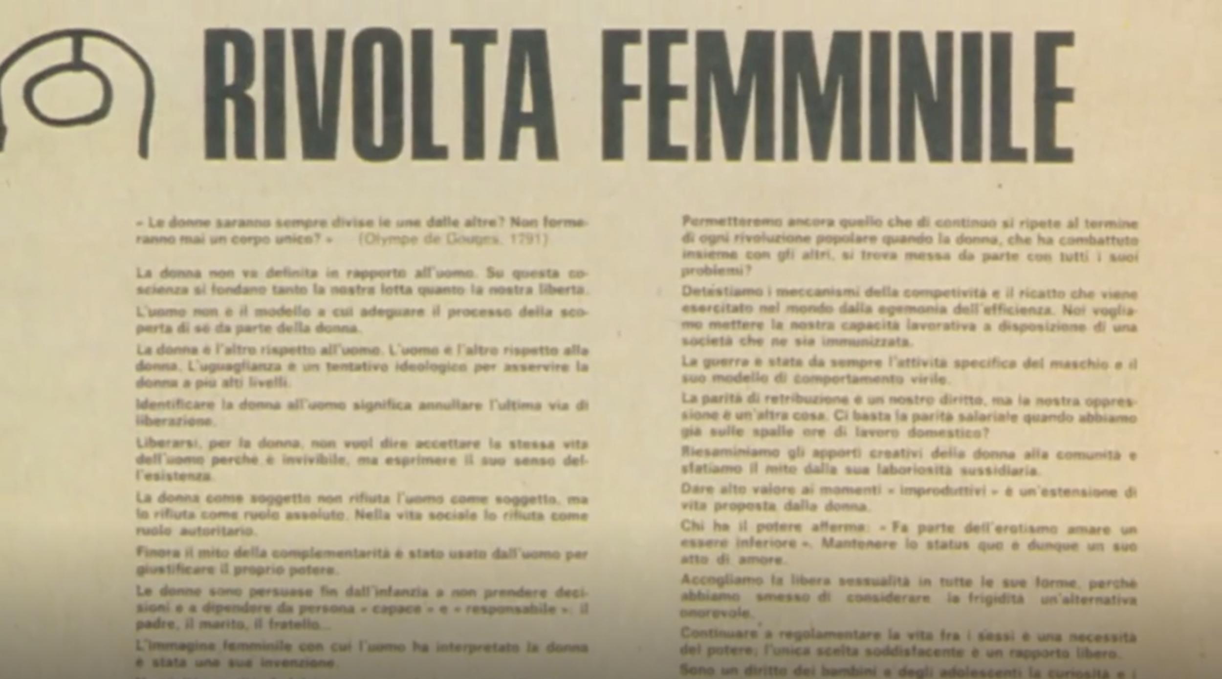 Il femminismo a Milano, Sesso e Politica, MeMoMI, edited by Lea Melandri, 2014, Screenshot.png