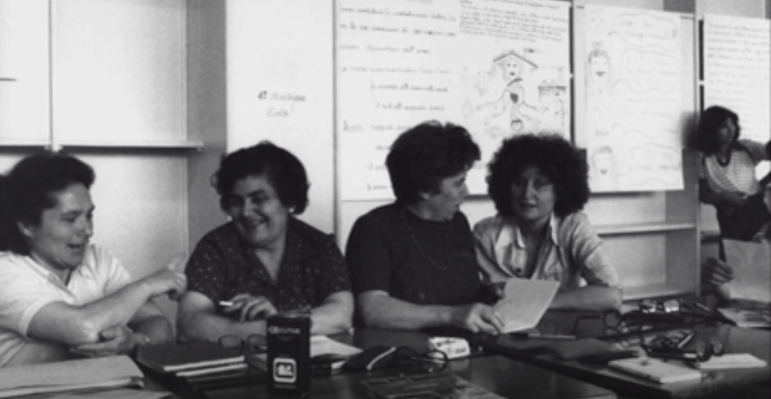 Lea Melandri and participants in the 150 Hours School, Il femminismo a Milano, Femminismo e 150 ore, MeMoMI, edited by Lea Melandri, 2014, Screenshot