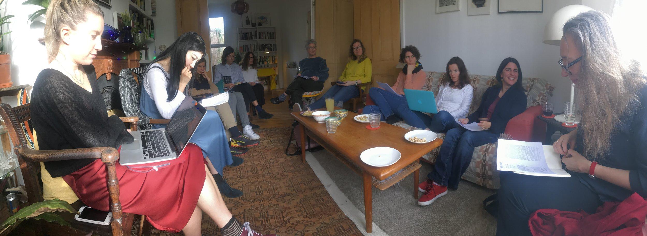 Kurdish Feminisms, Meeting 1: Nadje Al-Ali & Latif Tas, March 2019_Photo Helena Reckitt