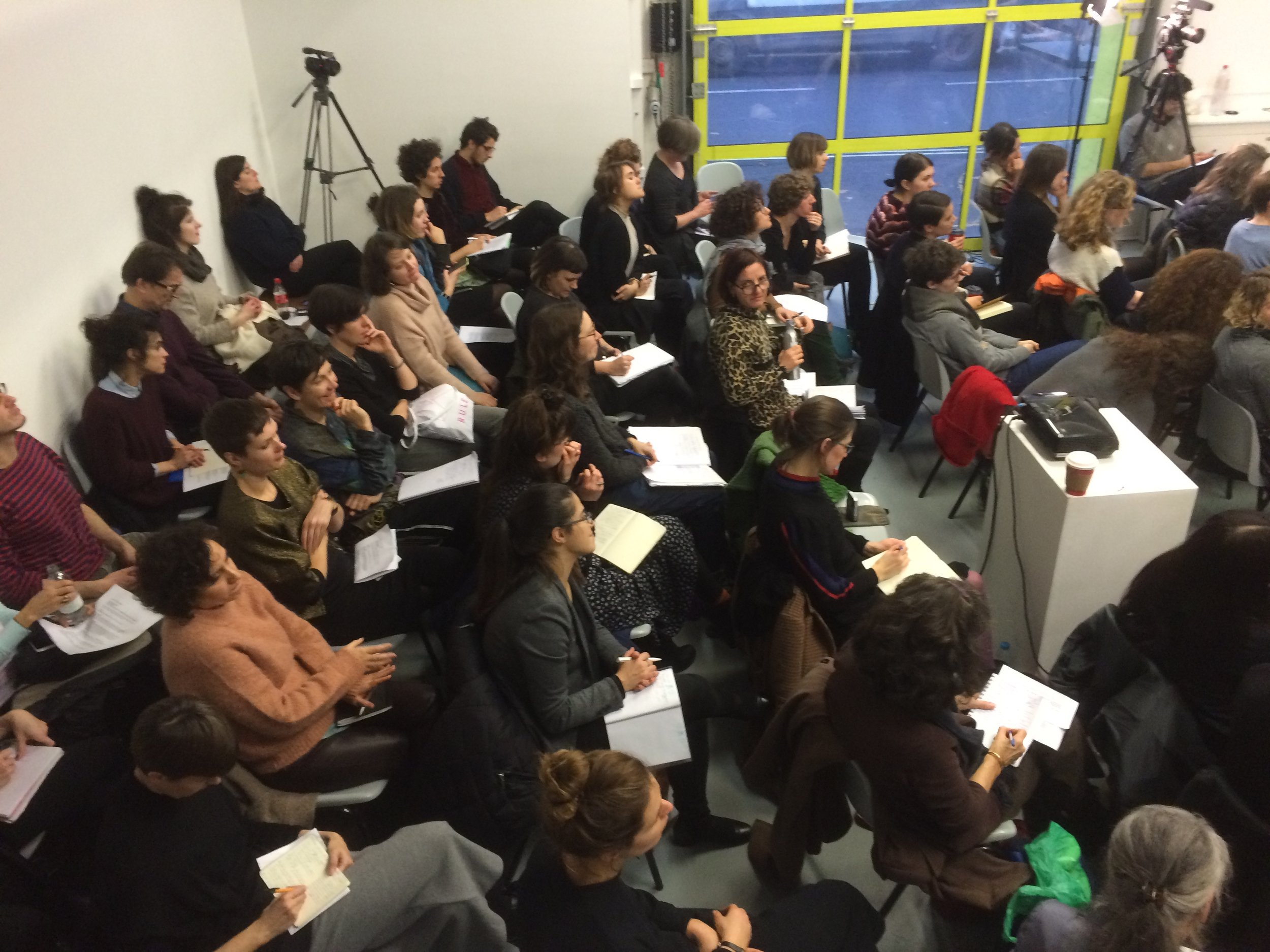 Don't Believe You Have Any Rights, seminar, The Showroom, London, as part of Now You Can Go, December 2015. Photo Helena Reckitt.