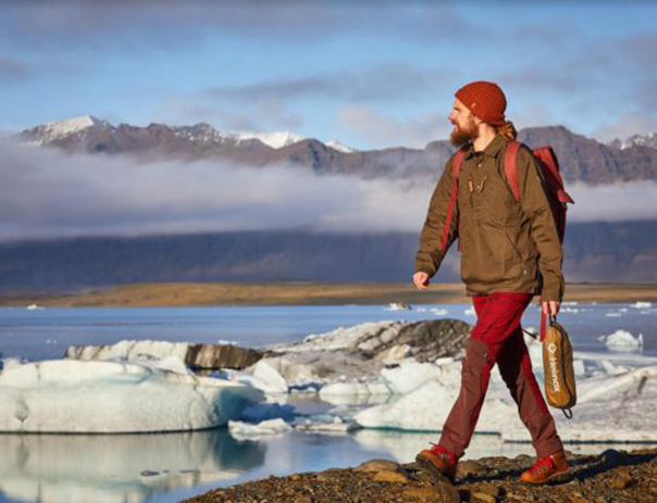 Outdoors Retailer Relaunch - model on beach in Iceland