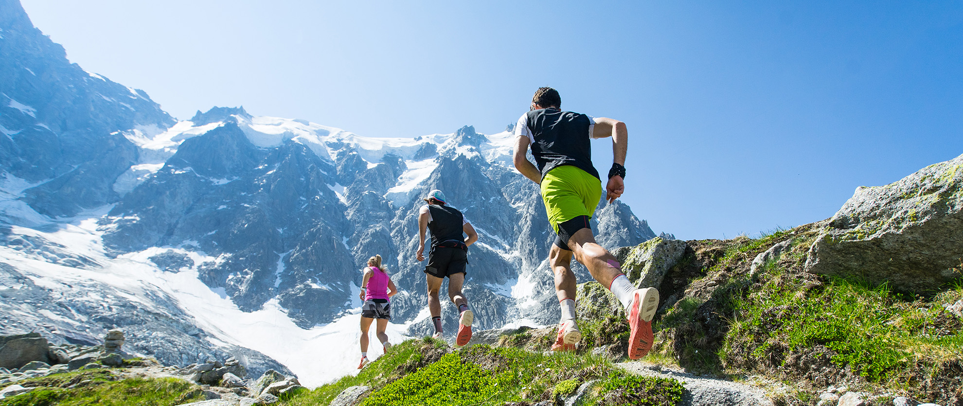 Trailrunners in the Alps - Resonant Digital Article on Outdoors Equipment Websites