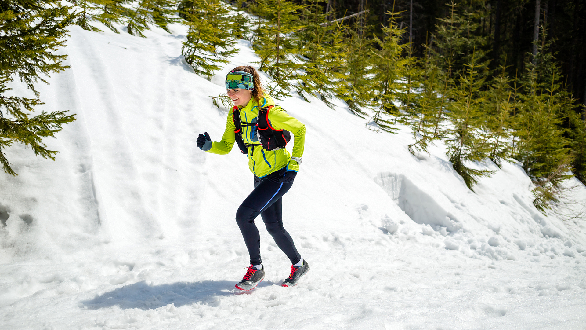 winter trail running for article on outdoors trading