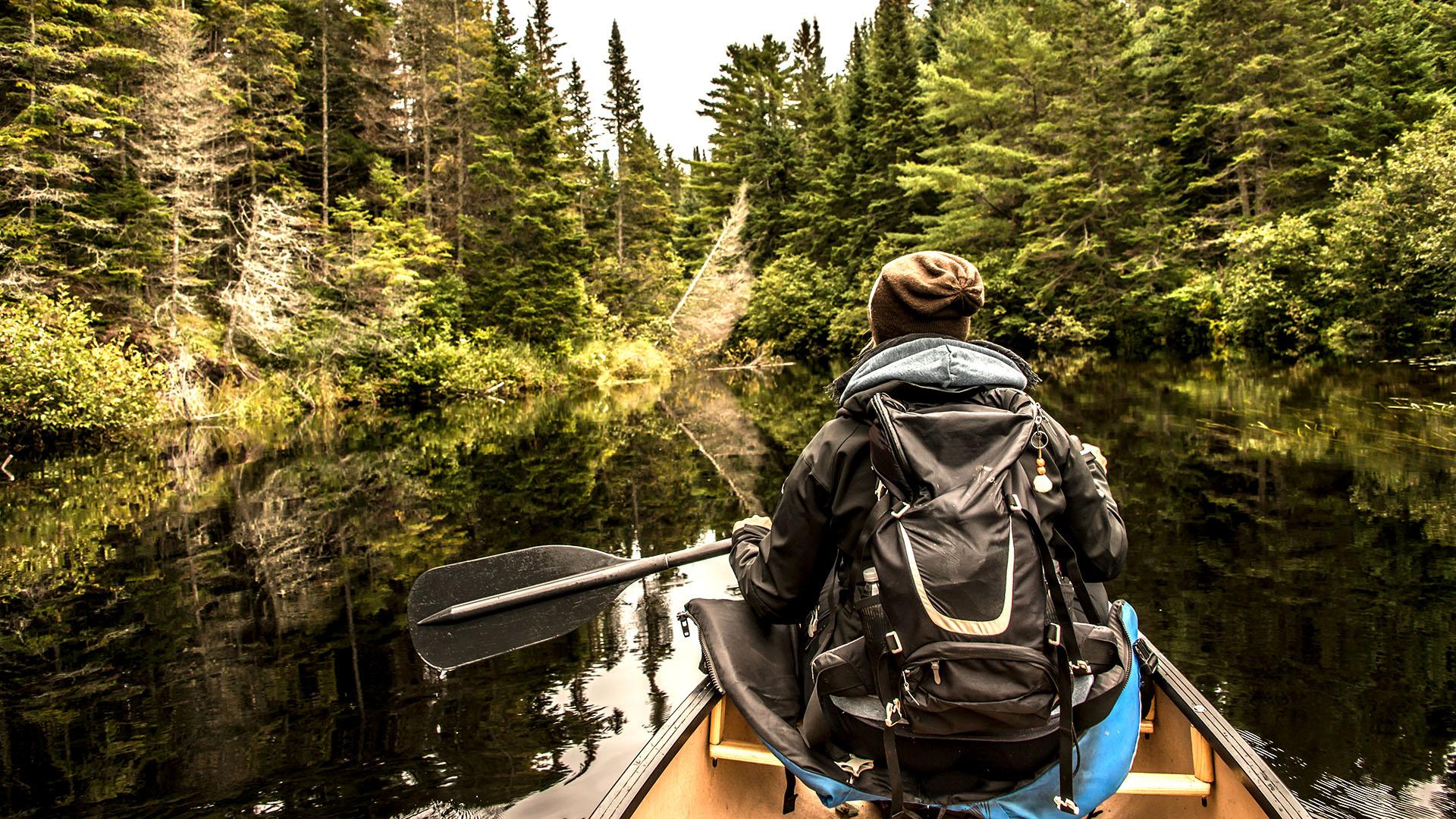 Canoeing in Algonquin, Ontario