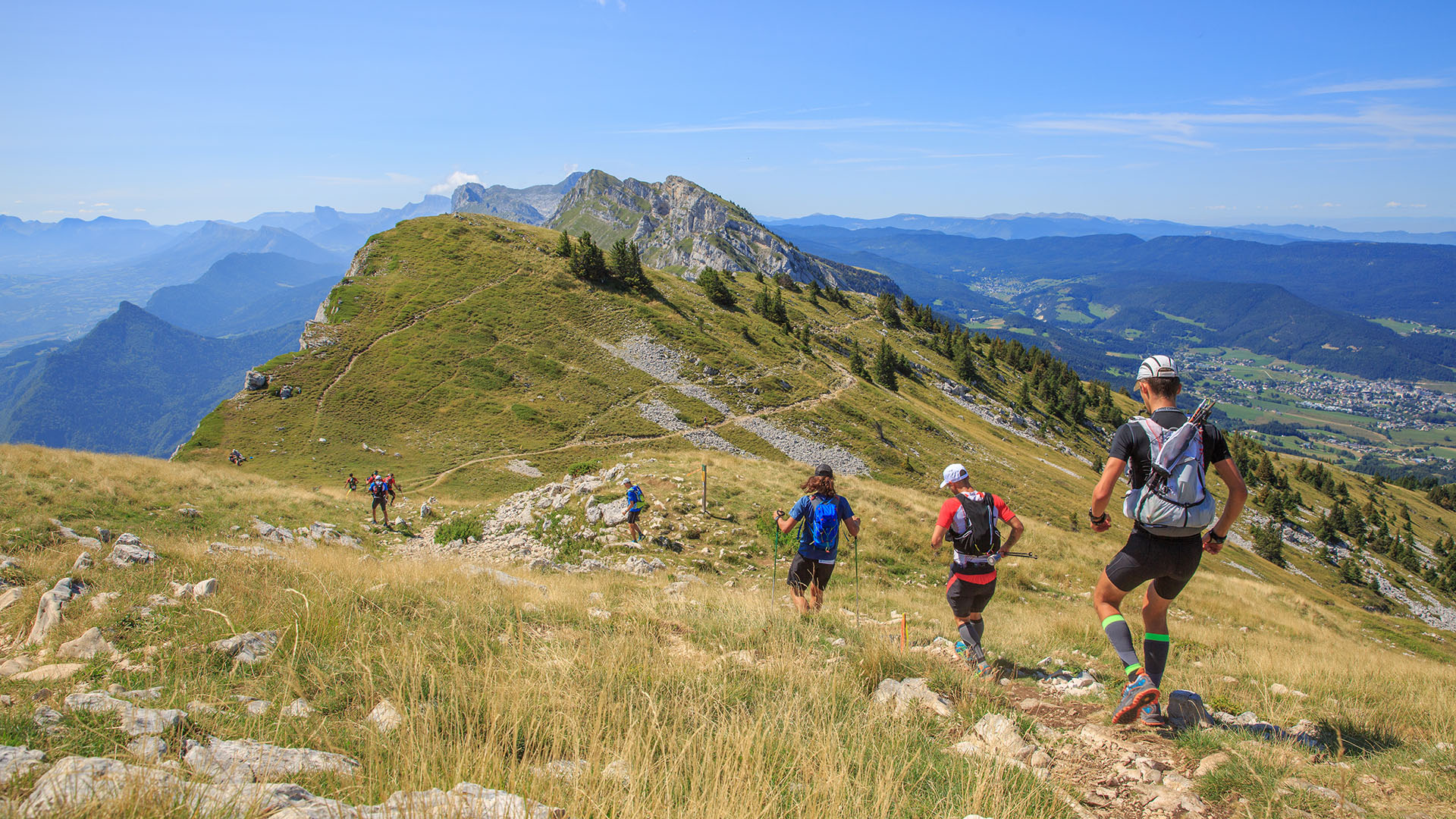 Trail Runners in Summer, France