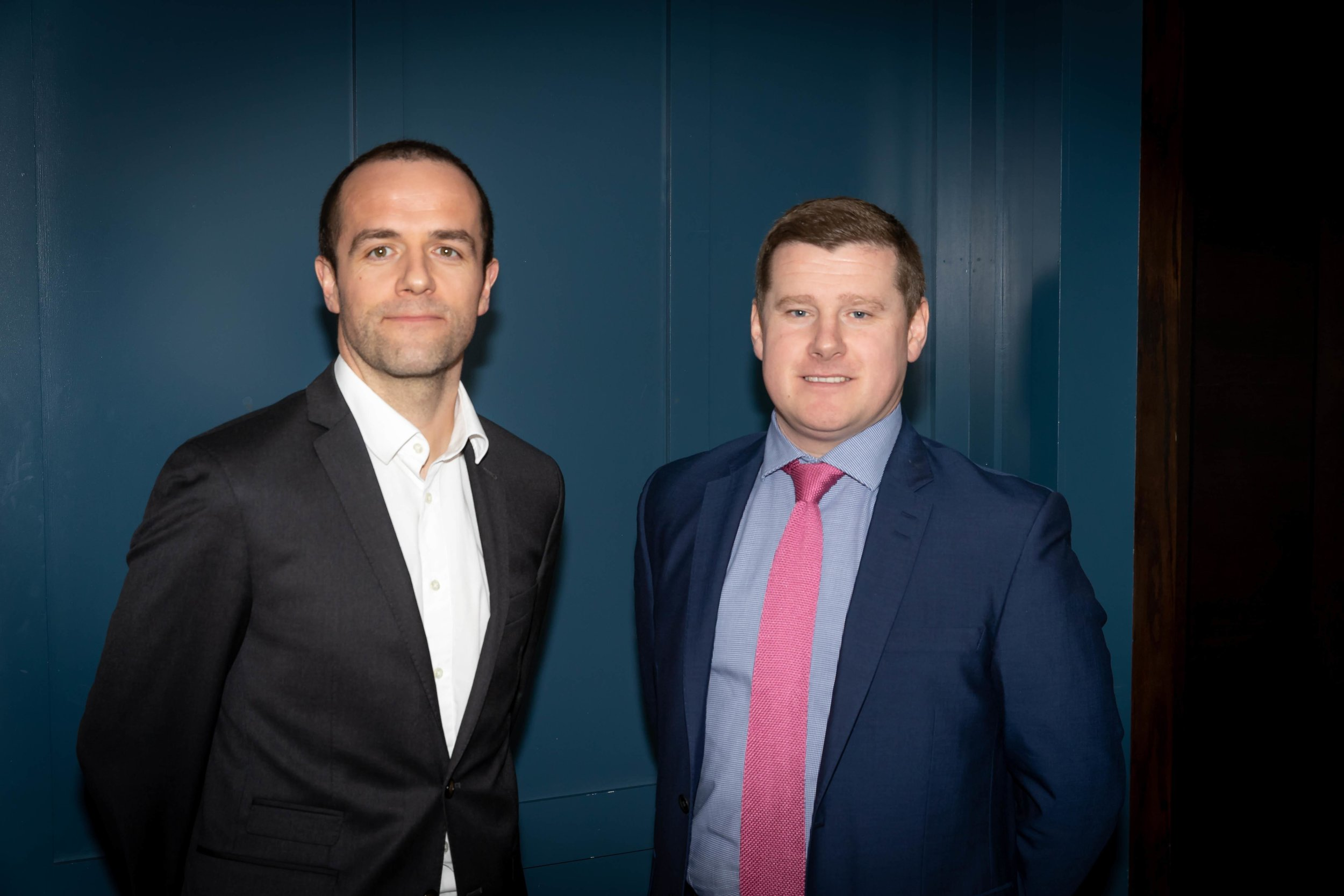Mark is pictured on the right with current Chairman Aaron Mooney.