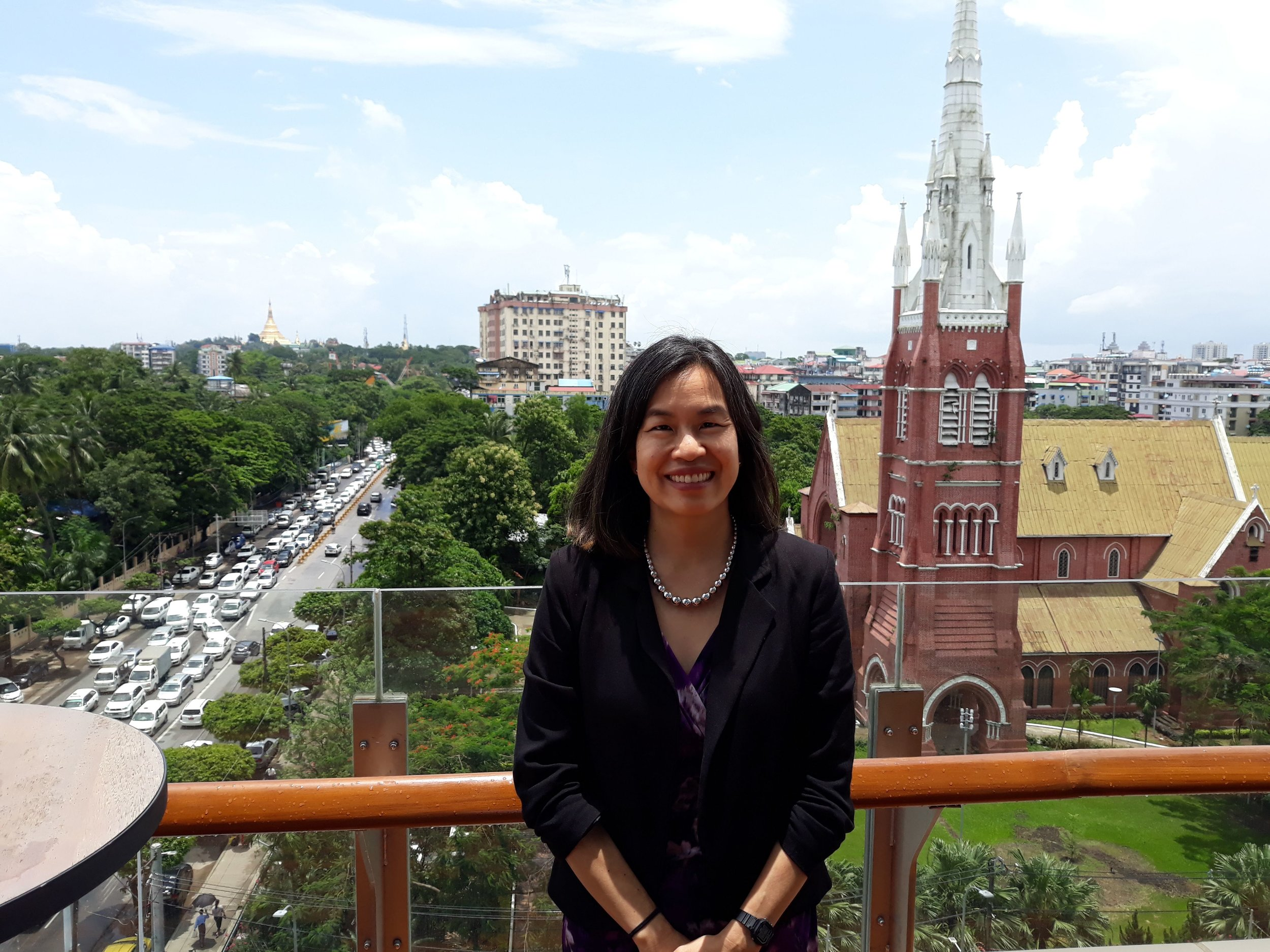 "US ICT Council Executive Director, Margaret ""Max"" Shu Teasdale in Yangon"