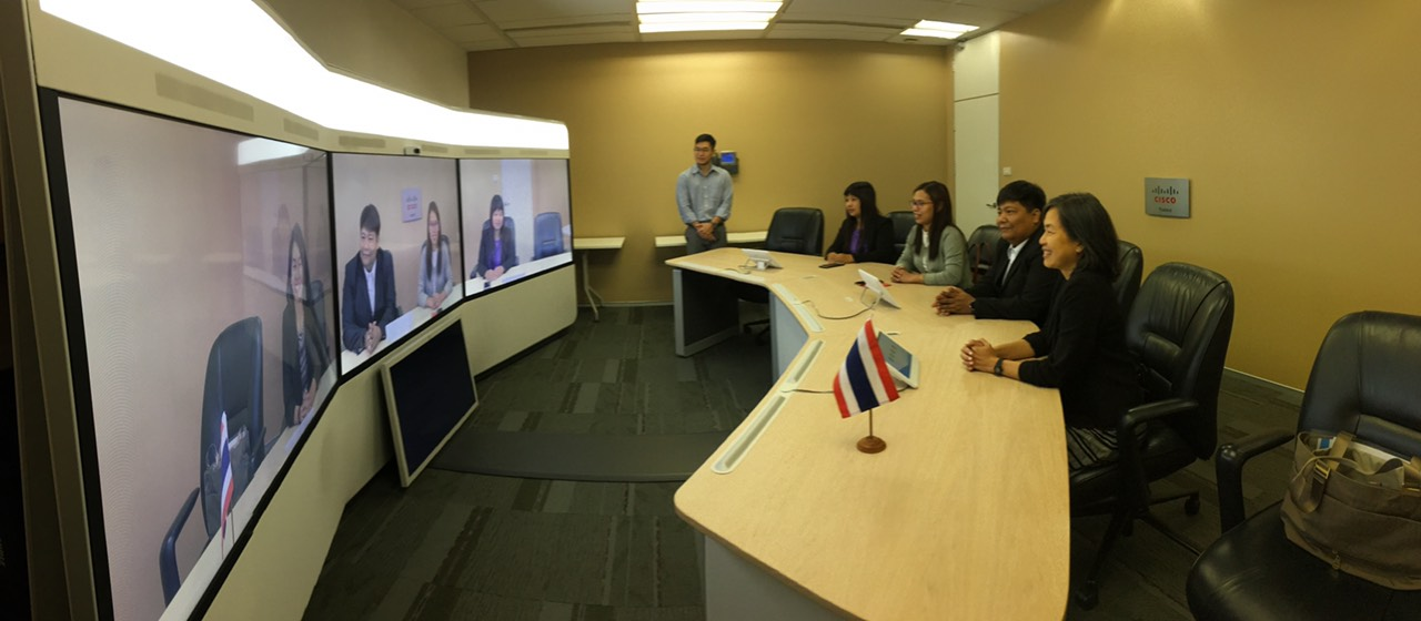 Testing Cisco's state-of-the-art virtual conferencing solutions.