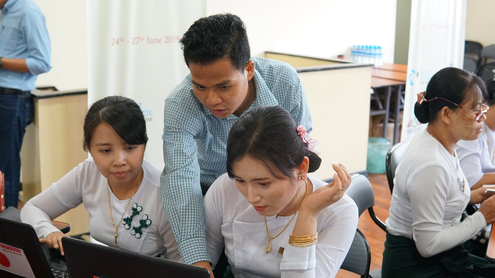Digital Literacy Teachers Training Program Launches - 33 secondary school teachers took part in a digital literacy training pilot project co-organized by US ICT Council and the Myanmar Book Aid and Preservation Foundation (MBAPF) on June 24, 2019. The DLTT program aligns with a Digital Economy Development Committee roadmap goal and was approved by the Ministry of Education.
