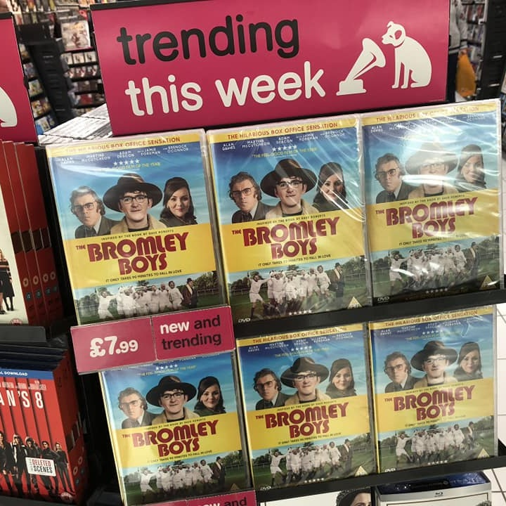 The Bromley Boys - Produced by Itchy Fish Film and written by NFC's Warren Dudley, The Bromley Boys is available now on Sky Movies, in Supermarkets and world wide online.