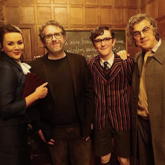 On the set of… - The Bromley Boys with Martine McCutcheon, Brenock O'Connor and Alan Davies. Feature film written in Newhaven.