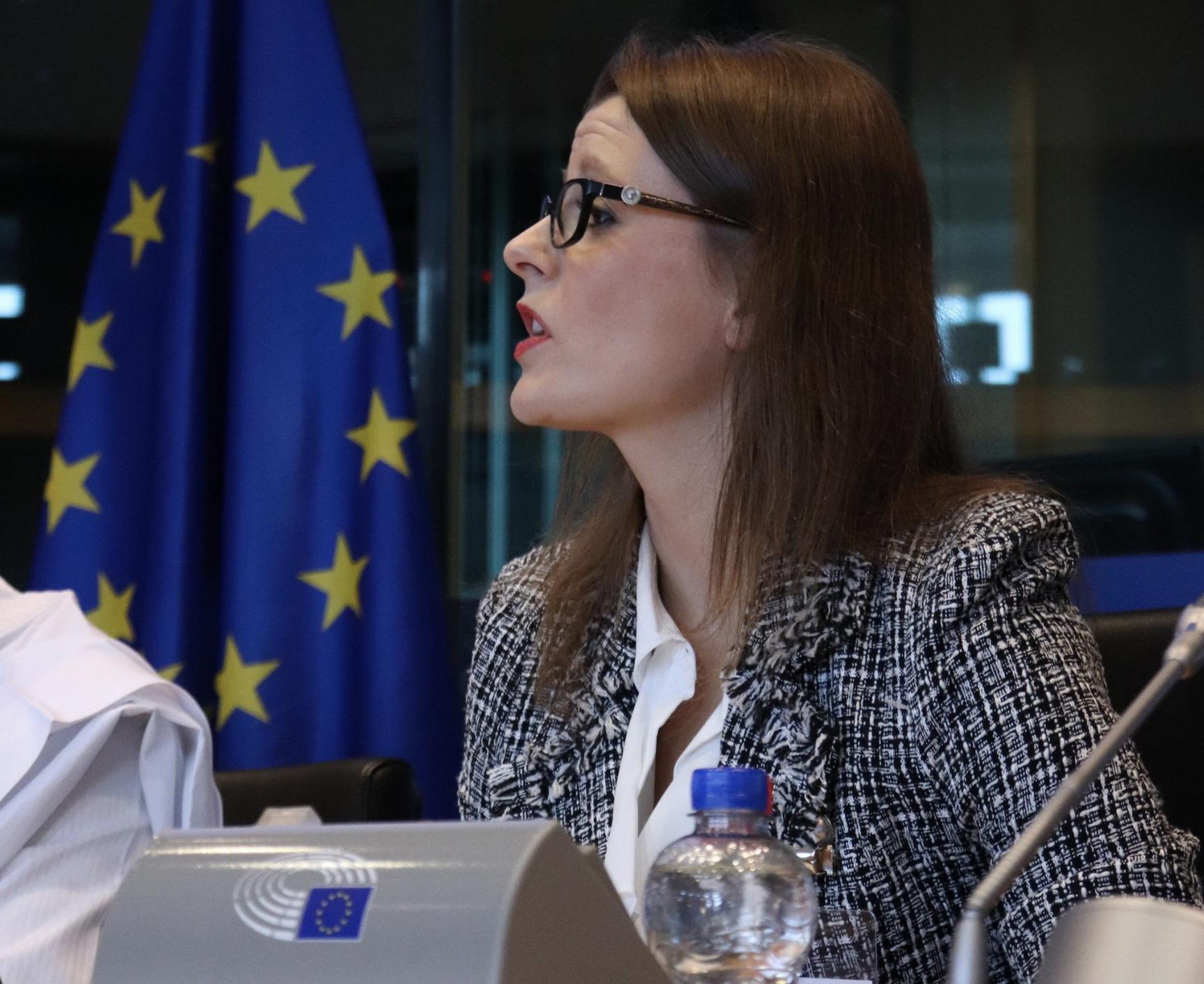 Aleksandra speaks at the 2019 EU Africa Summit