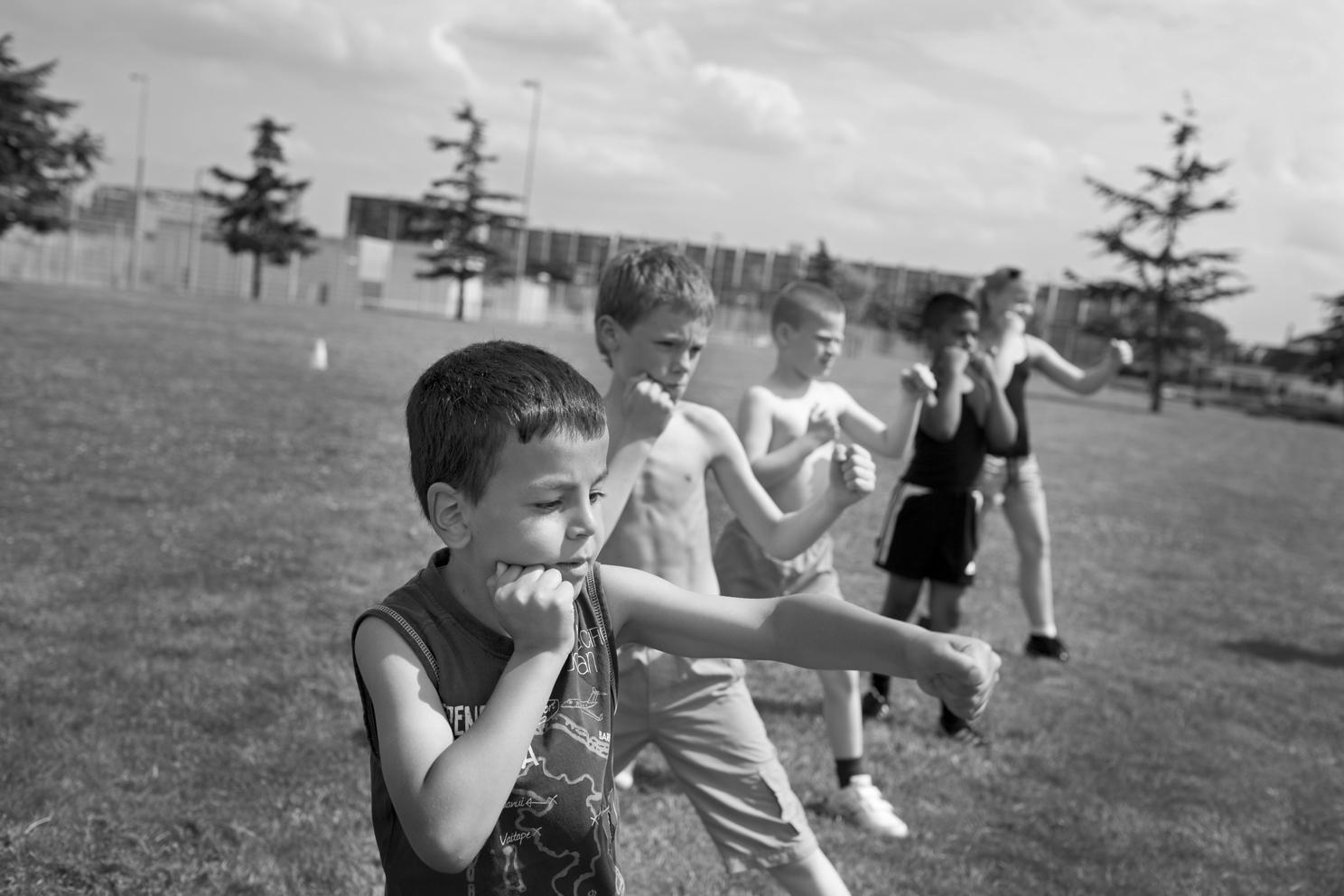 jeugdbokstraining -