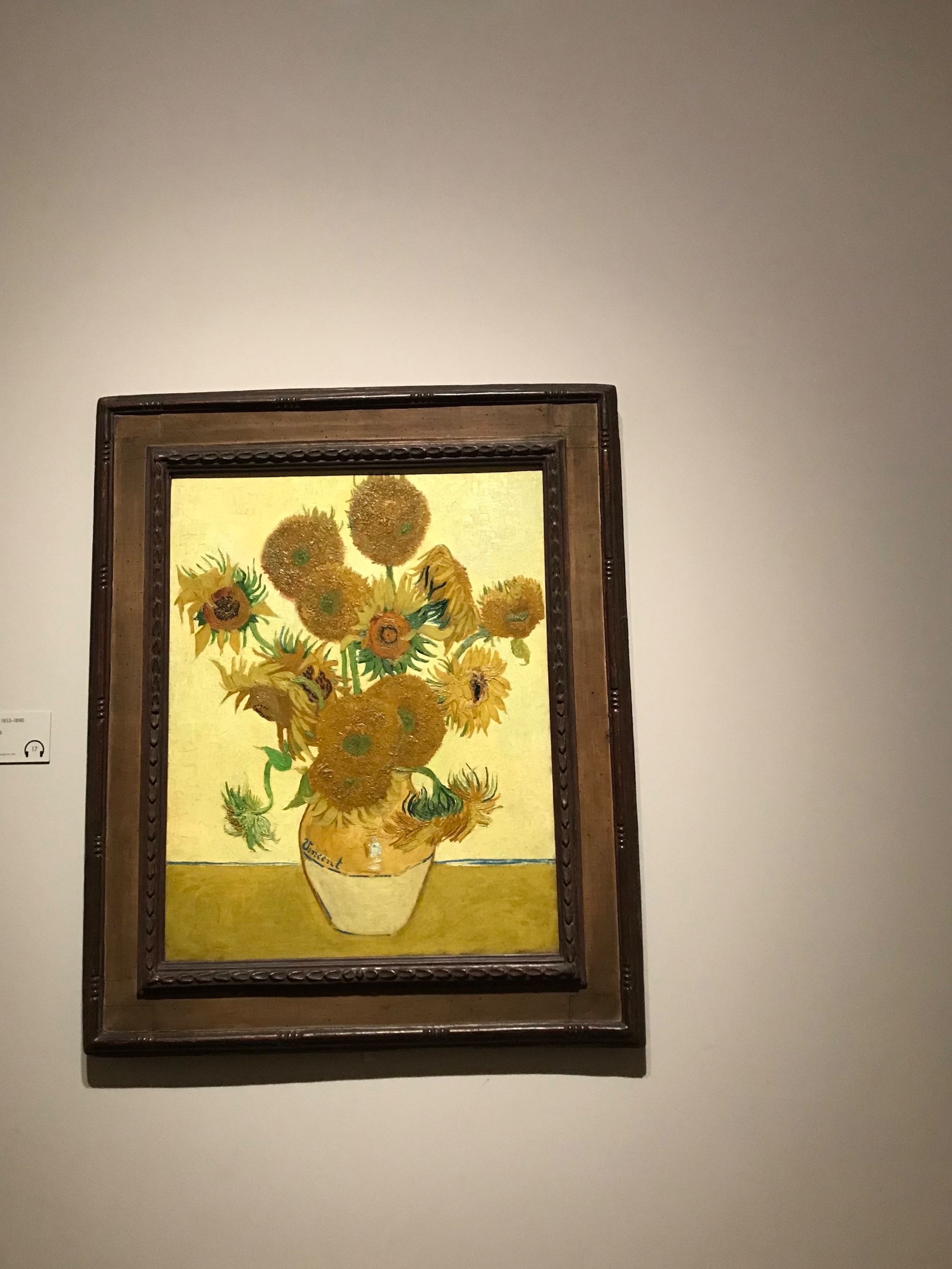 Van Gogh's sunflowers… - the clear winner in a room full!