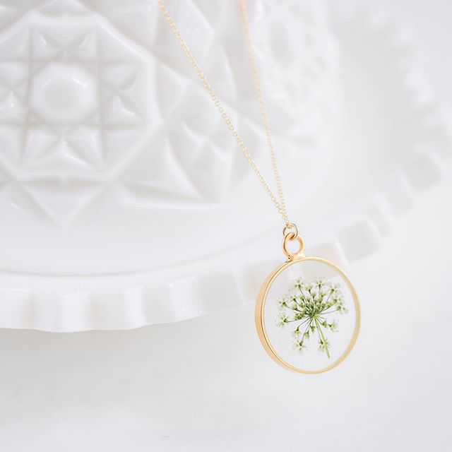 """Come now, let us settle the matter,"" says the Lord. 'Though your sins are like scarlet, they shall be as white as snow; though they are red as crimson, they shall be like wool.'"" Isaiah 1:18 . . . The Queen Anne's Lace Necklace in Gold"