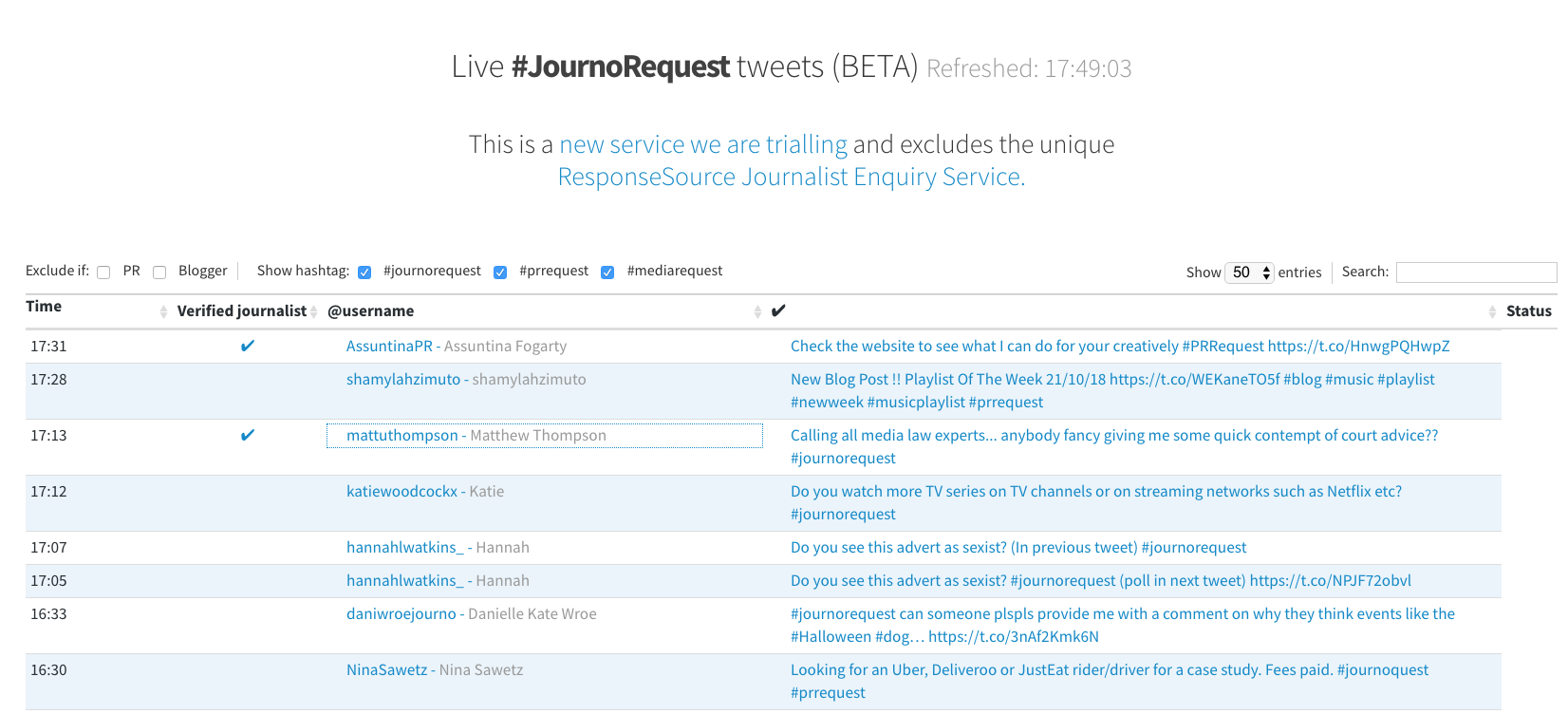 Journorequest is a great tool for generating free PR for your business. They are part of the ResponseSource family.